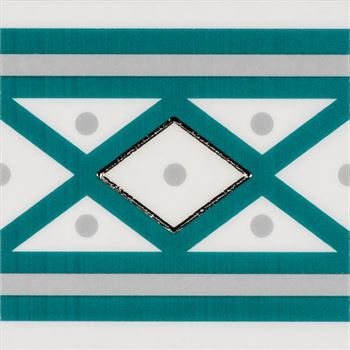 RICCO TURQUOISE T01 Ceramic Porcelain Decor