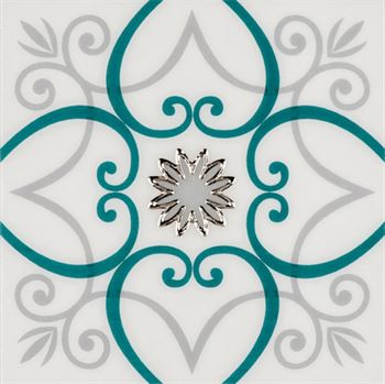RICCO TURQUOISE T02 Ceramic Porcelain Decor