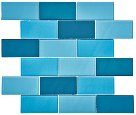 Pool Glass Mosaic BP-391 (48x98x4mm)