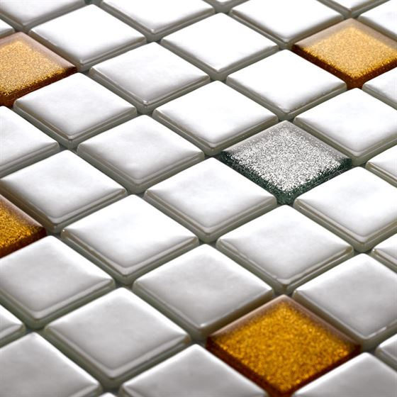 Millenium Silvery Glass Mosaic / T-2284 Mercan