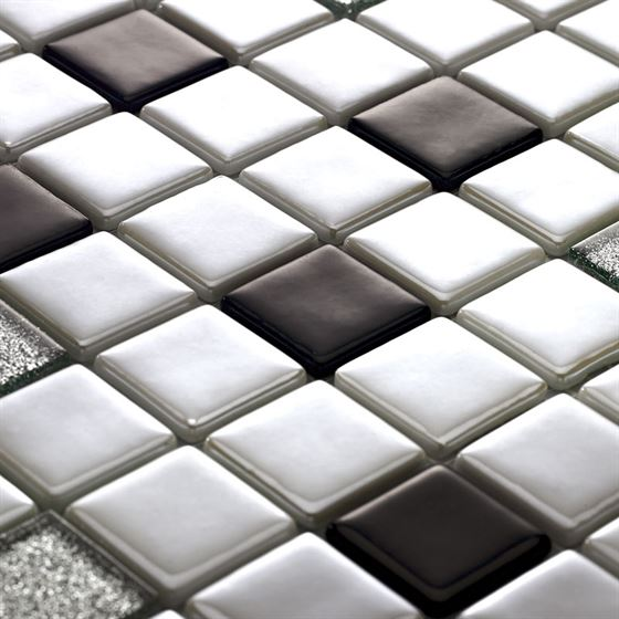 Millenium Silvery Glass Mosaic / T-2290 Amanos