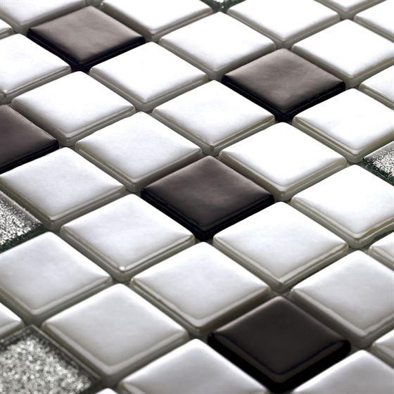 Millenium Silvery Glass Mosaic / T-2290 Amanos