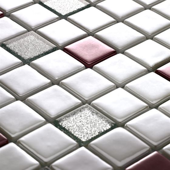 Millenium Silvery Glass Mosaic / T-2293 Ilgar