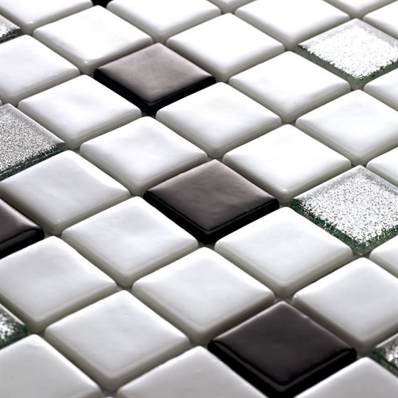 Millenium Silvery Glass Mosaic / T-2298 Koray