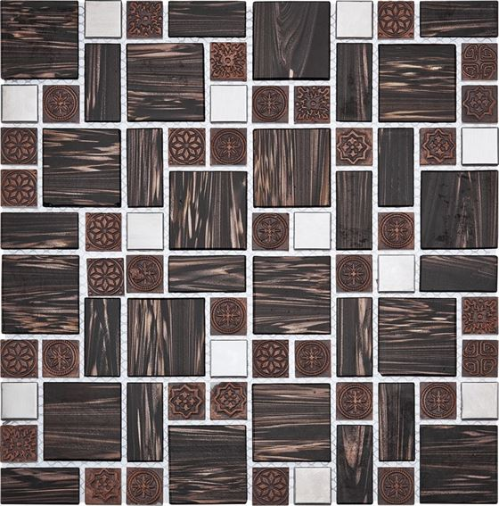Retro Glass Mosaic / R-8824 Tyoko