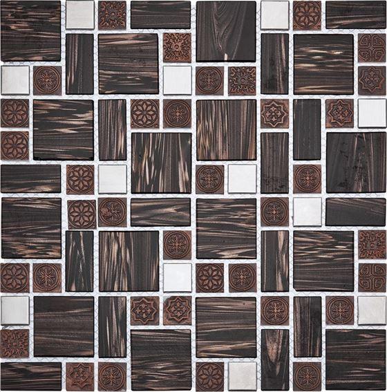 Retro Glass Mosaic / R-8824 Tyoko
