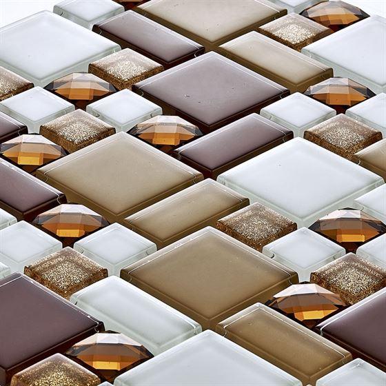 TENLight Crystal Glass Mosaic D-011 Topaz