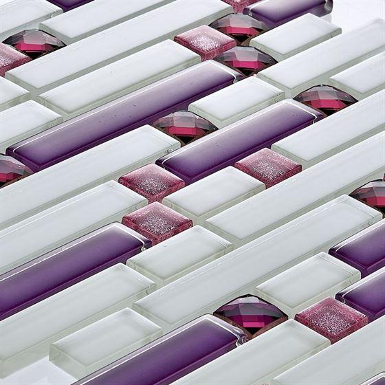 TENLight Crystal Glass Mosaic D-02 Ametist