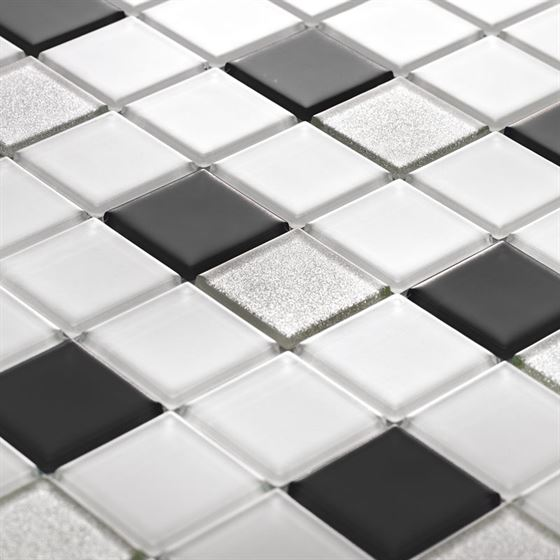 TENLight Crystal Glass Mosaic L-1143 Blanco